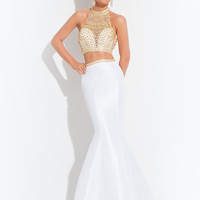 Razor Back Trumpet Prom Dress By Rachel Allan 6870
