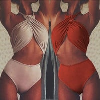 2016 Sexy Women Bikini Bandage High Waist Women's Swimsuit One Piece Monokini Lady Beach Swimwear