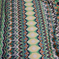 """Stripe Chevron Print ITY Knit Fabric, Polyester and Lycra Blend Multicolor 60"""" Wide per Half Yard"""