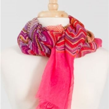 Spring Chevron Scarf EASC8053 Available in 4 Colors
