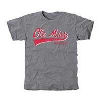 Ole Miss Rebels All-American Primary Tri-Blend T-Shirt - Ash