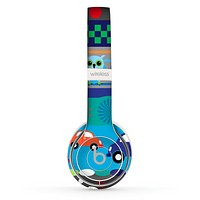The Cartoon Colored Vector Owls with Cars Skin Set for the Beats by Dre Solo 2 Wireless Headphones