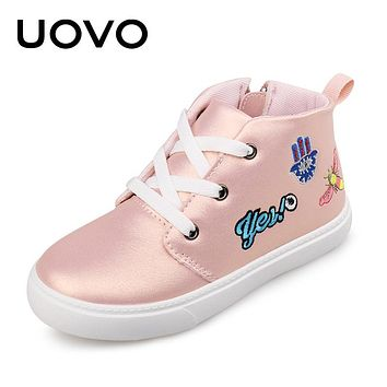Spring Autumn Kids Casual Shoes Lace up Closure with Cartoon Pattern Sneakers Boys Girls Shoes