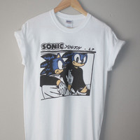 sonic the hedgehog youth goo parody t-shirt indie hipster 90s grunge retro dirty mega drive 80s mario genesis