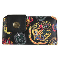 Harry Potter Crests Snap Button Flap Wallet