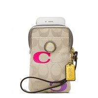 Coach :: Poppy Embroidered Signature Universal Case