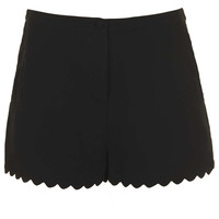 Black Scallop Hem Shorts - New In This Week  - New In