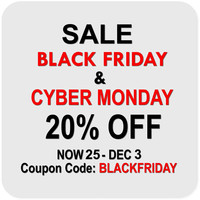 Black Friday & Cyber Monday Sale Now On