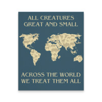 Veterinary Canvas - All creatures Great and Small We threat them all