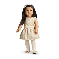 American Girl® Clothing: Brocade Holiday Dress for Dolls + Charm