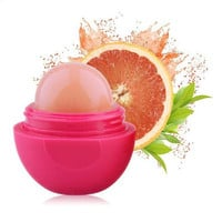 Hot Selling single product of natural plant moisturizing lip balm ball creative spherical six-color lipstick Free Shipping S316