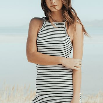B+W Ribbed Cami Dress