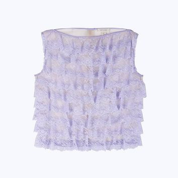 Ruffle Lace Shell Top   Marc Jacobs