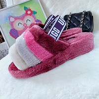 UGG hot sale fashion ladies plush slippers snow boots Shoes-2