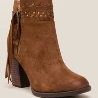 Not rated - chamonix laser cut fringe bootie