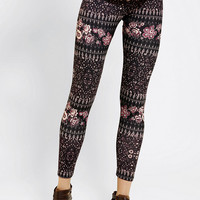 Urban Outfitters - Ecote Floral Geo High-Rise Legging