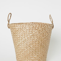 Large Braided Storage Basket - Natural - Home All | H&M US