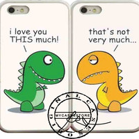 Dino Best Friend Couple iPhone 4s iPhone 5 iPhone 5s iPhone 6 case, Samsung s3 Samsung s4 Samsung s5 note 3 note 4 case, Htc One Case