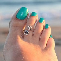 Retro Beach Toe Ring