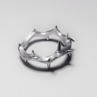 Handemade Silver 'Crown of Thorns' Ring, Teenage, Valentine, Christmas, Anniversary, Birthday, Gift