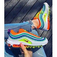 Nike Air Max 97 air cushion yellow Gym shoes (9 colors) Colorful
