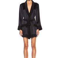 Boudoir Silk Robe in Black