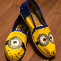 Hand-Painted Minion TOMS - Women or Kids