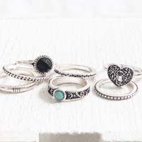 Heart & Stone Ring Set