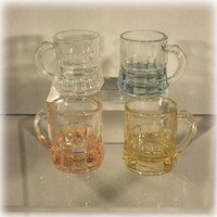 Federal Glass Miniature Mug Shot Glasses Set