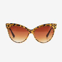 Leopard Meow Extreme Cateye Sunglasses