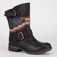 Mia Soldier Womens Boots Black  In Sizes