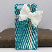 BOWS white gift case iphone 5 case   iphone 4 case  crystal iphone cover iphone cases
