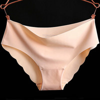 New Arrival Silk Lace Panties 2017 Women's Seamless Panty Briefs Underwear Ladies One Piece Intimates Brand Panty