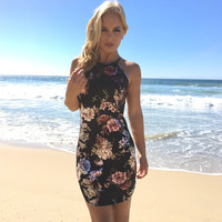 Foiled In Floral Party Dress