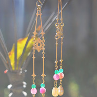 Gypsy Dangle Pearl Earrings