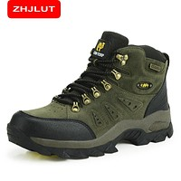 ZHJLUT Trekking Shoes Men's Hiking Shoes Anti-skid Mountain Climbing Boots Outdoor Athletic Breathable Men Waterproof 1216