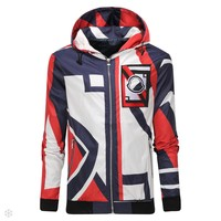 Free shipping Moncler autumn new tide brand sports slim thin baseball uniform hooded jacket