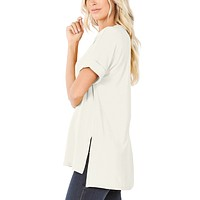 Loose Fit  V-Neck Tunic Top
