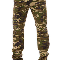 The Bates Cargo Pants in Woodland Camo