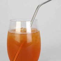 Stainless Steel Straw Set    - Silver One