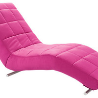 Poppy Pink Chaise