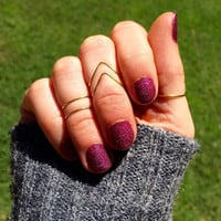 Midi Rings, Stacking Rings, Set of 5 Stacking Rings