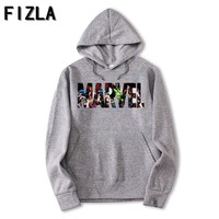 FIZLA New Brand Marvel Hoodies men high quality Long sleeves Casual men Sweatshirt Hoodies marvel print Hoodie Tracksuits male
