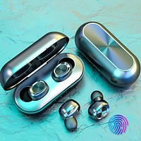 B5 TWS Wireless Earphone Headphones Bluetooth 5.0  Earbuds Waterproof 9D Stereo Sport Music Headset Touch Control with Micphones