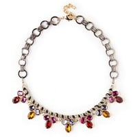 Sole Society Jewel Cluster Necklace