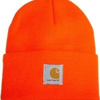 Carhartt Men's Acrylic Watch Hat,Bright Orange,One Size