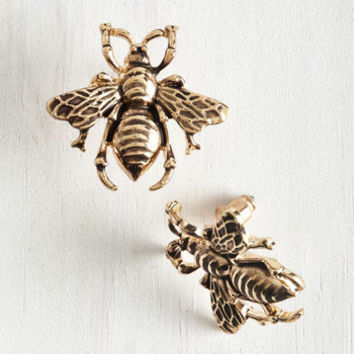 Critters Bee Prepared Earrings by ModCloth