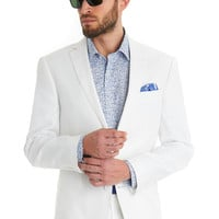 BLAZER TAILORED FIT WHITE MIX AND MATCH LINEN SUIT JACKET