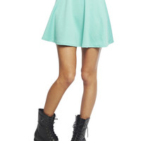 Textured Ponte Skater Skirt | Wet Seal