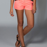 Volcom Frochickie Womens Twill Shorts Coral  In Sizes